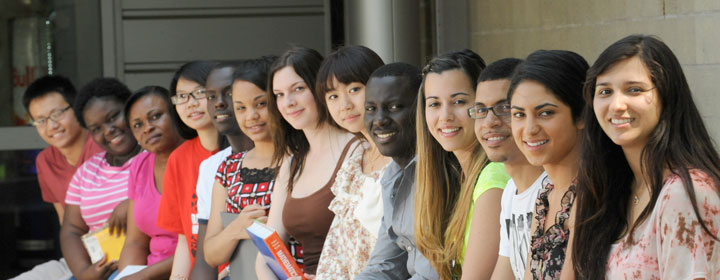 International students at BHCC