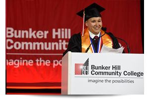 thumbnail of a student giving a graduation speech