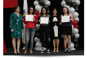 thumbnail of students with their awards