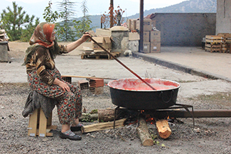 2015-2016 Honorable Mention 2 Student Photo Contest 2015 by Aydan Asik. Making Red Pepper Paste for a Local Women's Charity