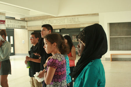Part of TRiO Summer Programs, TRiO Chelsea students visited UMass Amherst